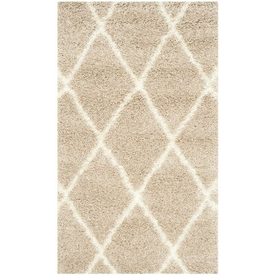 Macungie Trellis Beige Indoor Area Rug Rug Size: Rectangle 2-3 X 11
