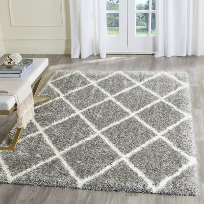 Macungie Trellis Gray Indoor Area Rug Rug Size: Rectangle 86 x 12