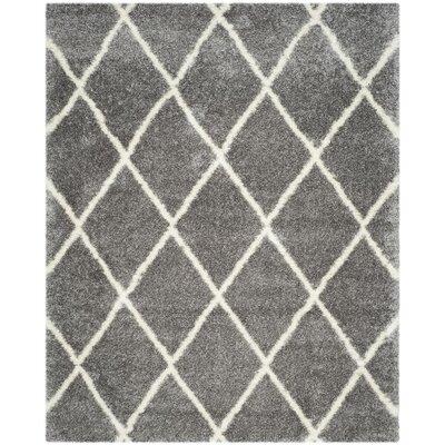 Macungie Trellis Gray Indoor Area Rug Rug Size: 8 x 10