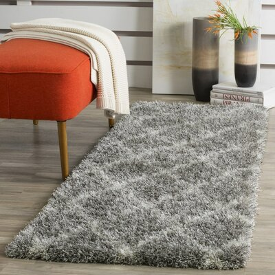 Hertha Gray Indoor Area Rug Rug Size: Runner 23 x 9