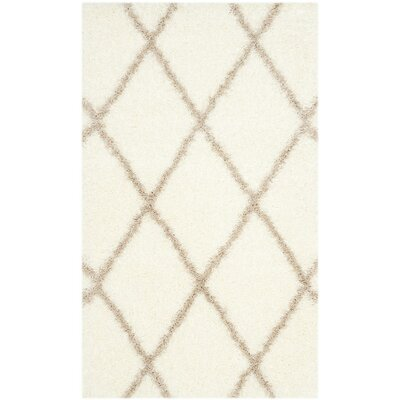 Hertha Beige Indoor Area Rug Rug Size: 6'7