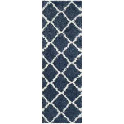 Macungie Blue / Ivory Indoor Area Rug Rug Size: Runner 23 x 9