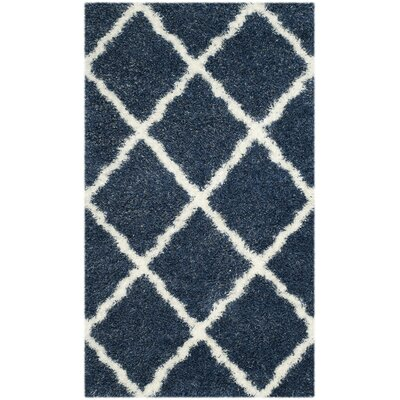 Hertha Blue Indoor Area Rug Rug Size: 86 x 12