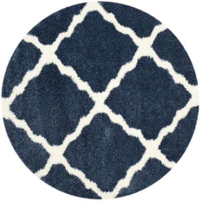 Macungie Blue / Ivory Indoor Area Rug Rug Size: Rectangle 3 x 5