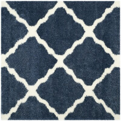 Macungie Blue / Ivory Indoor Area Rug Rug Size: Square 67