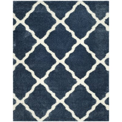 Macungie Blue / Ivory Indoor Area Rug Rug Size: 8 x 10