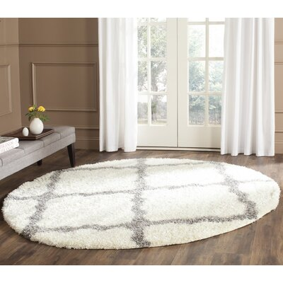 Macungie Gray Indoor Area Rug Rug Size: Round 67