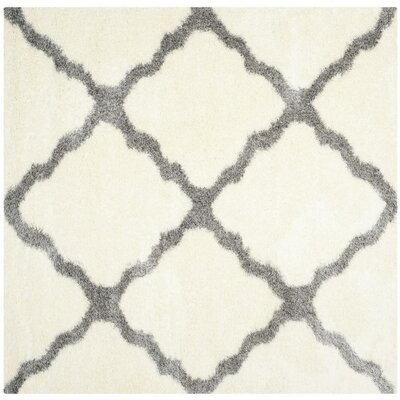 Hertha Gray Indoor Area Rug Rug Size: Square 67
