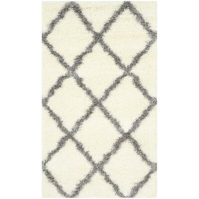 Hertha Gray Indoor Area Rug Rug Size: 67 x 96