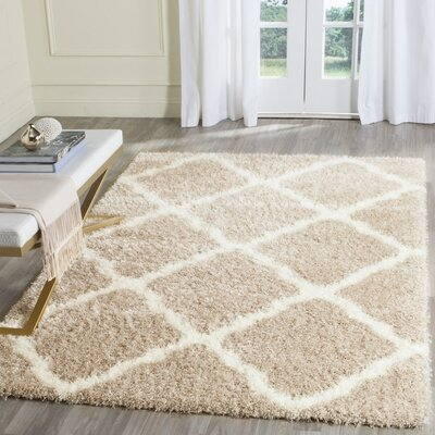 Macungie Beige Area Rug Rug Size: 53 x 76