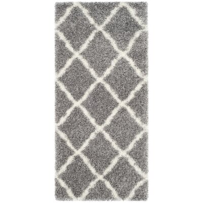Hertha Gray Indoor Area Rug Rug Size: Runner 23 x 5