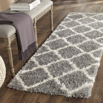 Hertha Gray Indoor Area Rug Rug Size: Runner 23 x 7