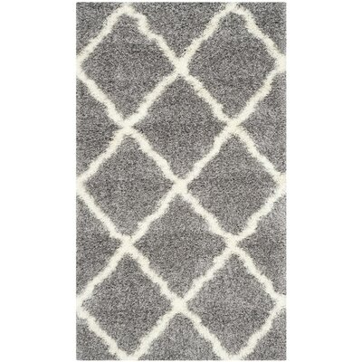 Macungie Geometric Gray Indoor Area Rug Rug Size: Rectangle 4 x 6