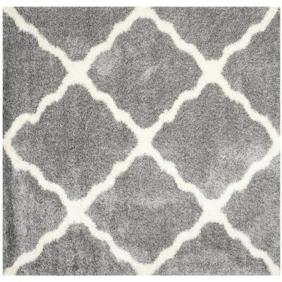 Macungie Geometric Gray Indoor Area Rug Rug Size: Square 67