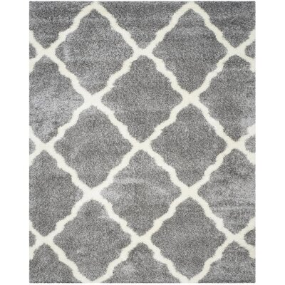 Macungie Geometric Gray Indoor Area Rug Rug Size: 8 x 10