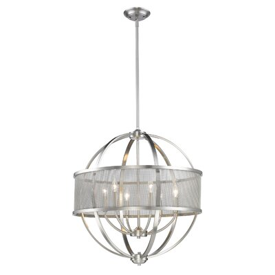 Tensed 6-Light Drum Pendant Finish: Pewter