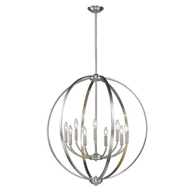 Tensed 9-Light Foyer Pendant Finish: Pewter