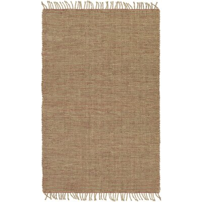 Mahaffey Hand-Woven Rust/Khaki Area Rug Rug size: Rectangle 5 x 76