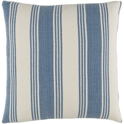 Elencourt 100% Cotton Throw Pillow Cover Size: 20 H x 20 W x 1 D, Color: DenimCream