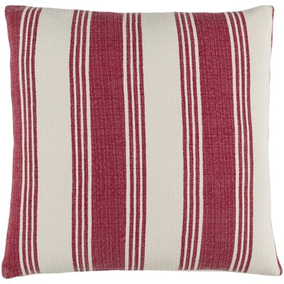 Elencourt 100% Cotton Throw Pillow Cover Size: 22 H x 22 W x 0.25 D, Color: RedNeutral