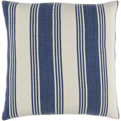 Elencourt 100% Cotton Throw Pillow Cover Size: 18 H x 18 W x 0.25 D, Color: DenimCream