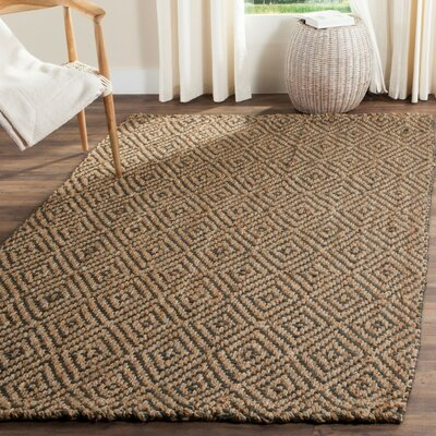 Grassmere Hand-Woven Natural/Grey Area Rug Rug Size: Rectangle 4 x 6