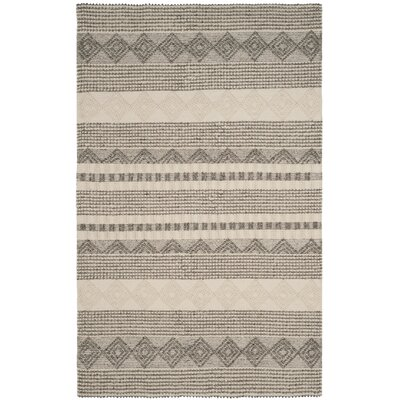 Billie Hand-Tufted Gray/Ivory Area Rug Rug Size: Rectangle 2 x 3