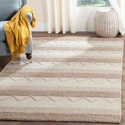 Billie Hand-Tufted Beige Area Rug Rug Size: Rectangle 5 x 8