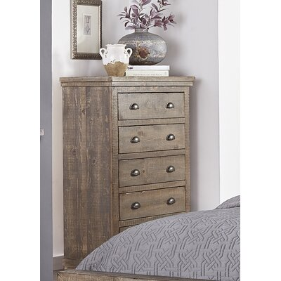 Castagnier 5 Drawer Chest Finish: Weathered Grey