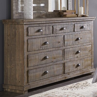 Castagnier 9 Drawer Dresser Color: Weathered Grey