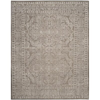 Mapleton Hand-Knotted Stone Gray/Pearl Area Rug Rug Size: 9 x 12