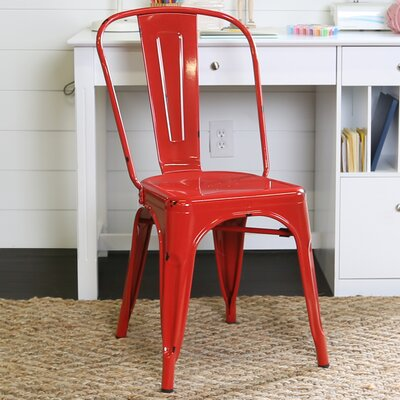 Airelle Side Chair Finish: Red
