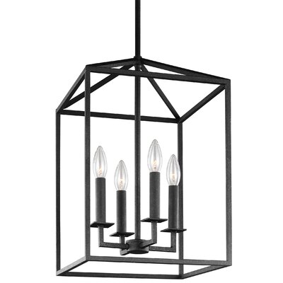 Odie 4-Light Foyer Pendant Size: 23.25 H x 15.5 W x 15.5 D