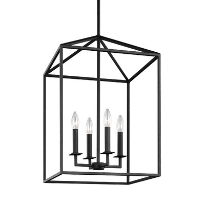 Odie 4-Light Foyer Pendant Size: 18.5 H x 12.25 W x 12.25 D