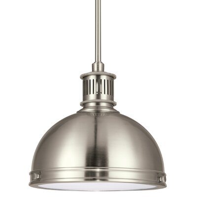 Orchard Hill 1-Light Inverted Pendant Finish: Brushed Nickel