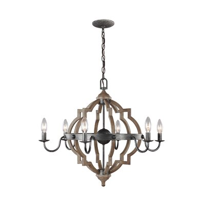 Donna 6-Light Candle-Style Chandelier Size: 22 H x 26 W x 26 D
