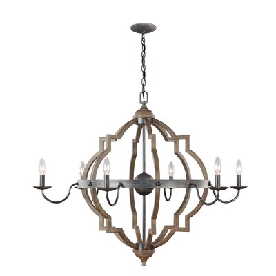 Donna 6-Light Candle-Style Chandelier Size: 31.75 H x 40 W x 40 D