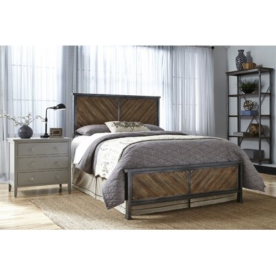 Yardley Metal Panel Headboard Size: Queen