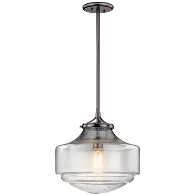 Yerres 1-Light Mini Pendant Finish: Shadow Nickel, Size: 15.25 H x 15 W
