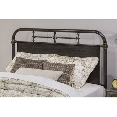 Kelly Metal Slat Headboard Size: King