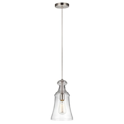 Zada 1-Light Mini Pendant Finish: Satin Nickel