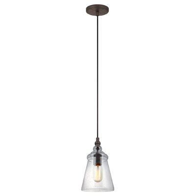 Sharwari 1-Light Mini Pendant Finish: Dark Weathered Iron