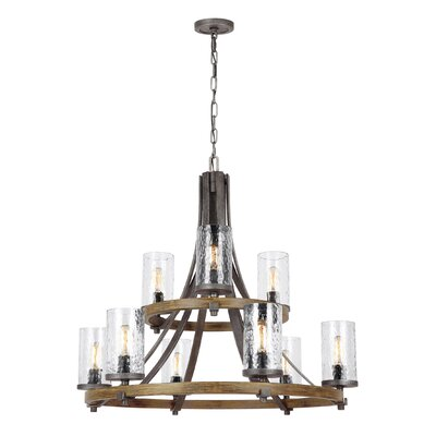 Zaria 9-Light Candle-Style Chandelier