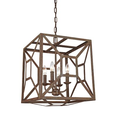 Jayanth 4-Light Candle-Style Chandelier Finish: Weathered Iron
