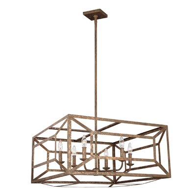 Jayanth 6-Light Candle-Style Chandelier Finish: Distressed Goldleaf