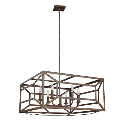 Jayanth 6-Light Candle-Style Chandelier Finish: Weathered Iron