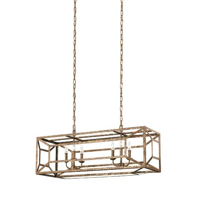 Jayanth 6-Light Metal Foyer Pendant Finish: Distressed Goldleaf