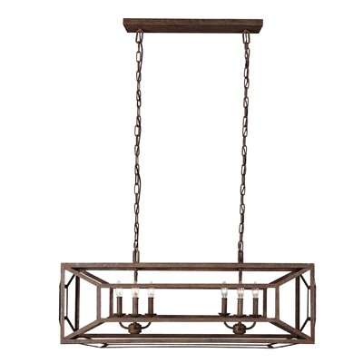 Jayanth 6-Light Metal Foyer Pendant Finish: Weathered Iron