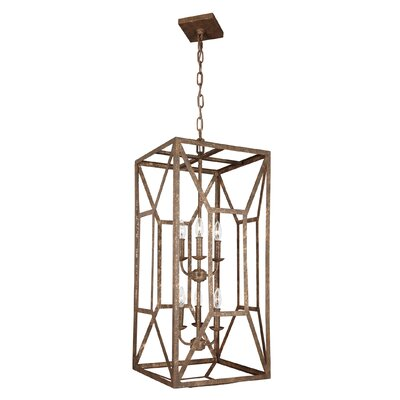Jayanth 6-Light Foyer Pendant Finish: Distressed Goldleaf