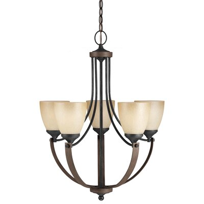 Kenna 5-Light Shaded Chandelier Bulb Type: 100W A19 Medium